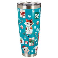 30 oz. Stainless Steel Christmas Cats Tumbler
