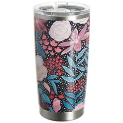 Tropix 20 oz. Stainless Steel Floral Bouquet Tumbler