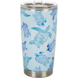 20 oz Stainless Steel Watercolor Turtle Tumbler