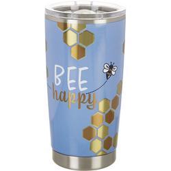 20 oz. Stainless Steel Bee Happy Tumbler