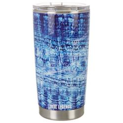 20 oz. Stainless Steel Blue Abstract Tumbler