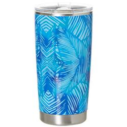 20 oz. Stainless Steel Blue Leaves Tumbler