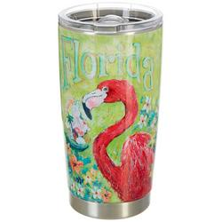 20 oz. Stainless Steel Flamingo Tumbler