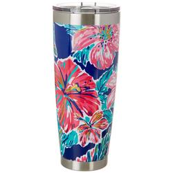 Tackle & Tides 30 oz. Stainless Steel Hibiscus Tumbler