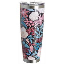 Tropix 30 oz. Stainless Steel Floral Bouquet Tumbler