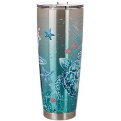 Coastal Home 30 oz. Stainless Steel Pastel Turtle