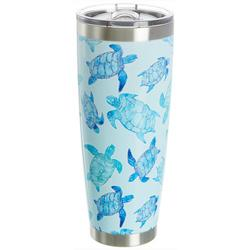 30 oz Stainless Steel Watercolor Turtle Tumbler