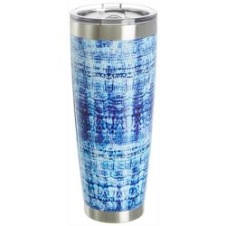 Reel Legends 30 oz. Stainless Steel Blue Abstract Tumbler