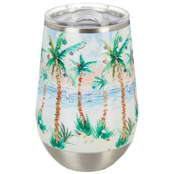 12 oz. Stainless Steel Deck The Palms Wine Tumbler