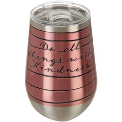 Tropix 12 oz. Stainless Steel Kindness Wine Tumbler
