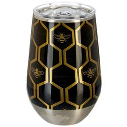Tropix 12 oz. Stainless Steel Honeycomb Wine Tumbler