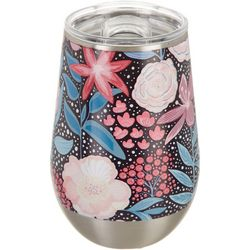 Tropix 12 oz. Stainless Steel Floral Bouquet Wine Tumbler