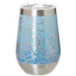 12 oz Stainless Steel Shell Sketch Wine Tumbler