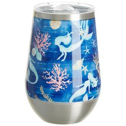 Coastal Home 12 oz Stainless Steel Mermaid Swim Wine Tumbler