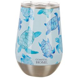 Coastal Home 12 oz. Stainless Steel Sea Turtle