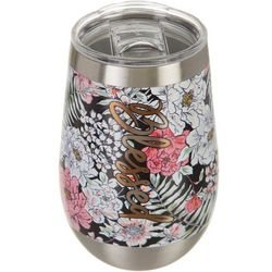 Meteor 12 oz. Stainless Steel Floral Blessed Wine Tumbler