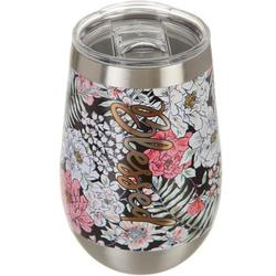 12 oz. Stainless Steel Floral Blessed Wine Tumbler