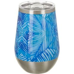 Reel Legends 12 oz. Stainless Steel Blue Leaves