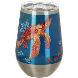 12 oz. Stainless Steel Turtle Wine Tumbler