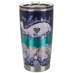 20 oz Stainless Steel Chubby Mermaid Tumbler