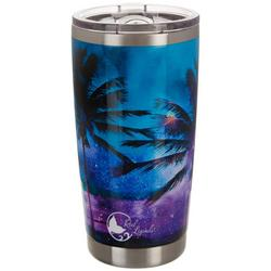 20 oz. Stainless Steel Paradise Palm Tumbler