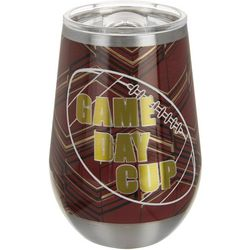 12 oz Stainless Steel Burgundy Gold Game Day Tumbler