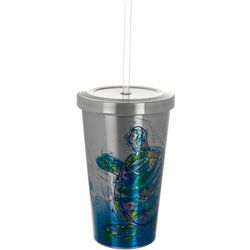 17 oz. Stainless Steel Turtle Tumbler & Straw