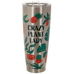 Meteor 30 oz. Stainless Steel Crazy Plant Lady Tumbler