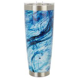 Reel Legends 30 oz. Stainless Steel Blue Marble Tumbler