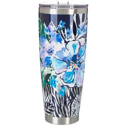 Tropix 30 oz. Stainless Steel Floral Animal Tumbler