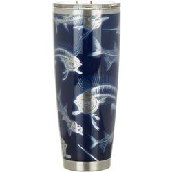 30 oz. Stainless Steel Skeleton Fish Tumbler