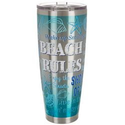 30 oz. Stainless Steel Beach Rules Travel Tumbler