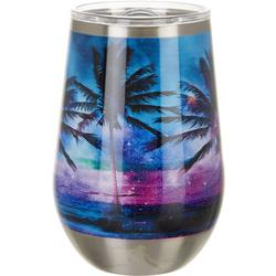 12 oz. Stainless Steel Paradise Palm Tumbler