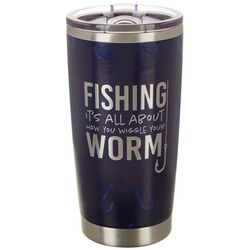 Nukuze 20 oz. Stainless Steel Wiggle Worm Travel Tumbler