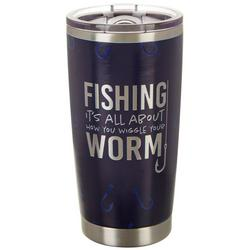 20 oz. Stainless Steel Wiggle Worm Travel Tumbler