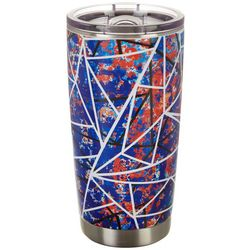 Nukuze 20 oz. Stainless Steel Splatter Lines Travel Tumbler
