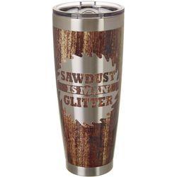 30 oz. Stainless Steel Sawdust Tumbler