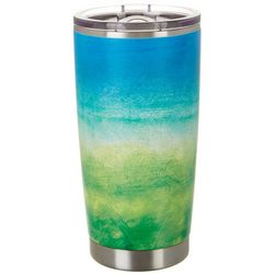 Nukuze 20 oz. Stainless Steel Ombre Green Travel Tumbler