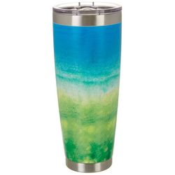 Nukuze 30 oz. Stainless Steel Ombre Green Travel Tumbler