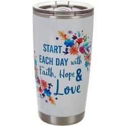 20 oz. Stainless Steel Faith Hope & Love Tumbler
