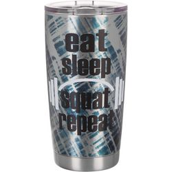 Nukuze 20 oz. Stainless Steel Eat Sleep Squat