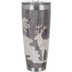 30 oz. Stainless Steel Deer Wood Grain Tumbler