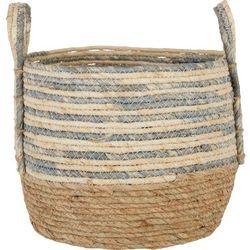 Round Stripe Medium Basket