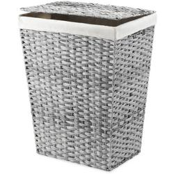 Canvas Liner Rattique Hamper With Lid