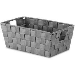 Whitmor Woven Strap Small Grey Shelf Storage Tote