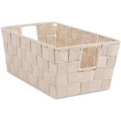 Woven Strap Small Shelf Storage Tote