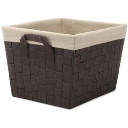 Woven Strap Canvas Liner Small Shelf Tote