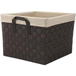 Woven Strap Canvas Liner Shelf Tote