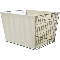 Wire Canvas Liner Shelf Tote