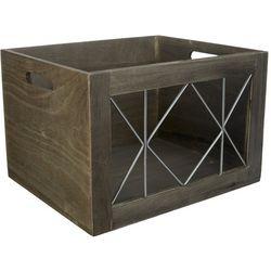 Whitmor Wood & Metal Small Shelf Tote